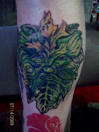 Bill's Greenman tattoo. Bill's Greeman tattoo by Morag @ Tribe Edinburgh by